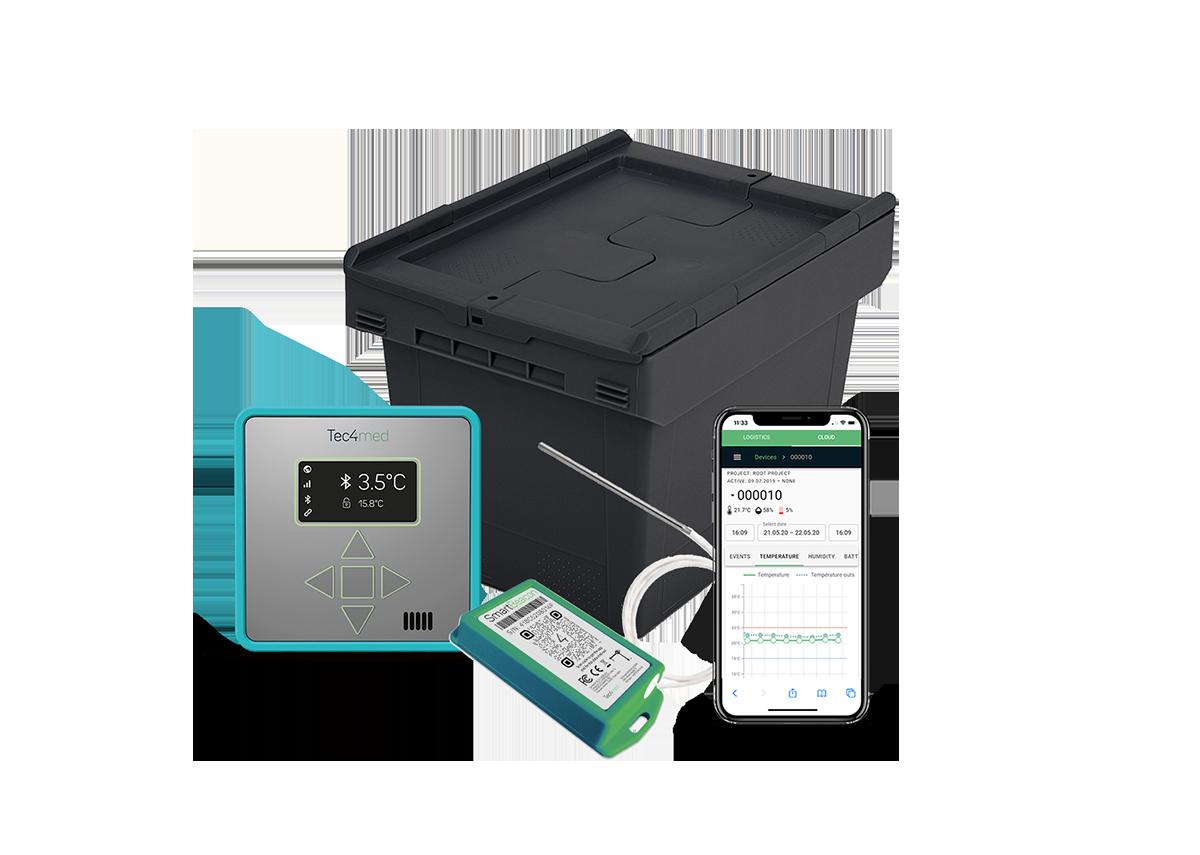 Digitale Hochleistungs-Transportbox für den Versand temperatursensibler Medikamente und Impfstoffe